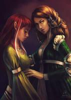 Commission: Argentea and Kileanna by LenamoArt