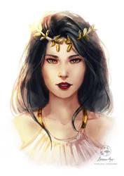 Sketch Commission: Aurelia by LenamoArt