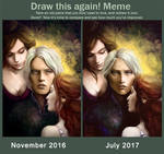 Whispers from the past - Draw it again meme by LenamoArt
