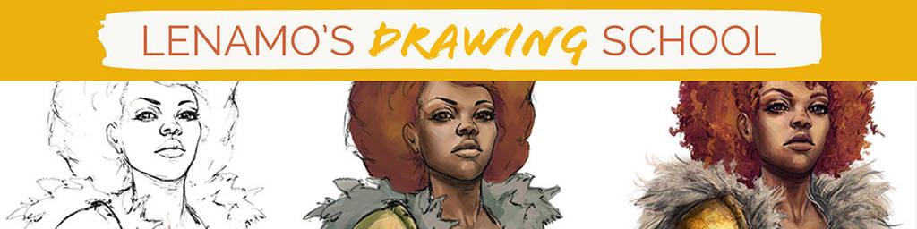 Drawing School Banner1200px by LenamoArt