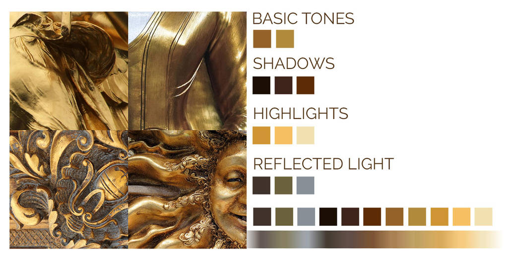 Gold-tutorial-colours by LenamoArt