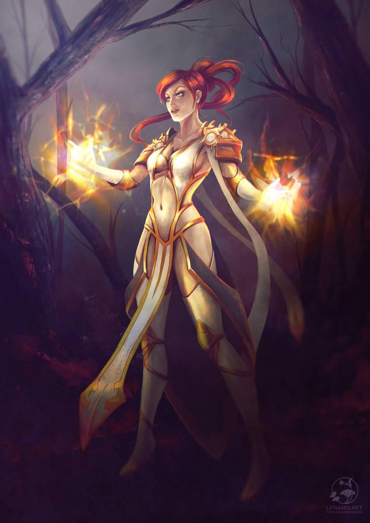 Commission: Kasp (Holy specialization) by LenamoArt