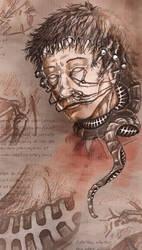gloomy sinister toupee monster by kiedan