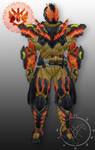 Req  Kamen Rider Cross-z  Titan Magma Ornament by Hellmaster6492