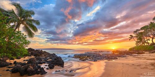 Secret Sunset Pano by AndrewShoemaker