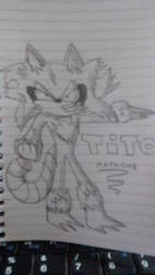 Un personaje que yo hice inspirado por sonic. by tomas1111