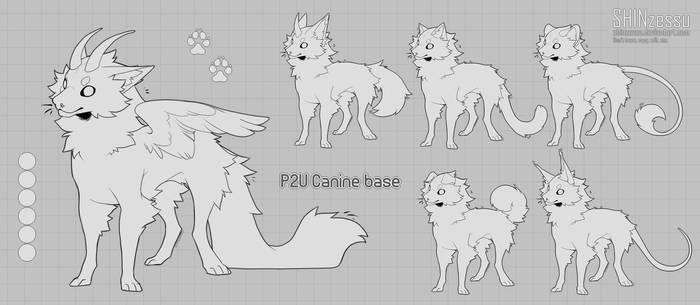 Canine chibi base - P2U 17 by Shinzessu