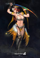 Kingdom Death-PhoenixDancer by lokmanlam