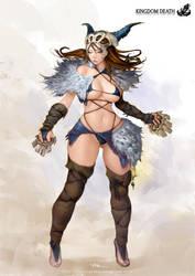 Kingdom Death-Primal Huntress by lokmanlam