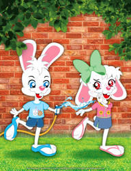 Hans and Greta - Splashing Fun by bunnyfriend