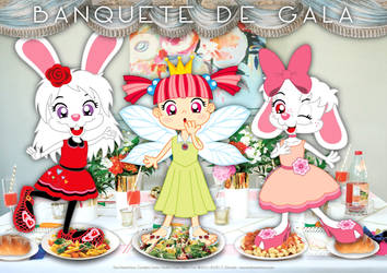 Little Cony, Gaby and Greta's Gala Banquet by bunnyfriend