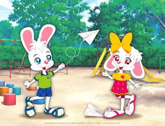 Hans and Greta's Paper Planes by bunnyfriend