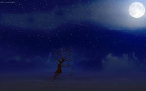 talvi-winter-night Widescreen by daewoniii