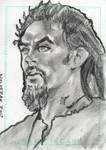Stargate Atlantis Sketch Card Ronon Dex by JonDjulvezan