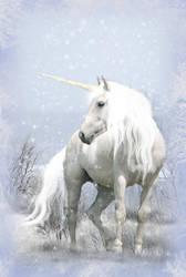 Unicorn in Winter by WargusEstor