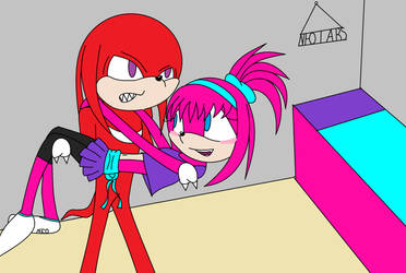 Knuckles Saves Rager by mariamoon2