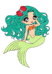 Siren Of Pearls Colored by Maiko-Girl
