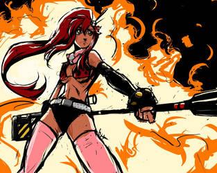 Firey Redhead by gts
