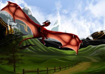 Flying dragon by LexThomas