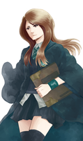 Haruna Ono, House of Slytherin by QUINCY-OF-THE-MIST