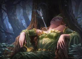 Death of the Elven Queen by LuisaPreissler