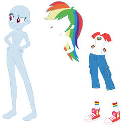 Equestria Girls Camping Rainbow Dash Base by PainterEde