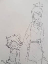 Loli apprentice and her teacher :) by ClockworkHeartz