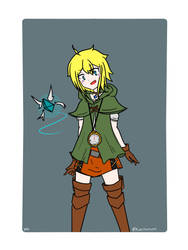 Cerulean cosplays as Linkle by ClockworkHeartz