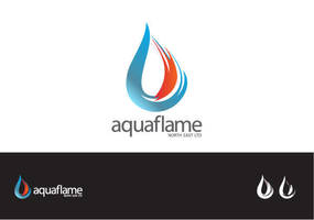 Aquaflame Logo by caesaraldhela