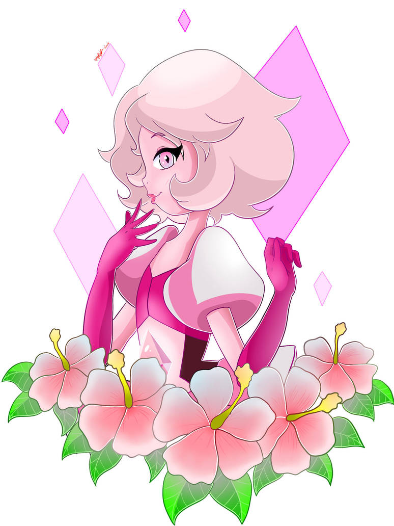 I honestly LOOOVE Pink Diamond, because she's sooo adorable!!!   Pink Diamond (c) Rebecca Sugar Art (c)