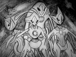 Deoxys, the Virus Pokemon (Other Forms) by Xyvier