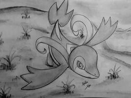 Gaming, the Snivy by Xyvier