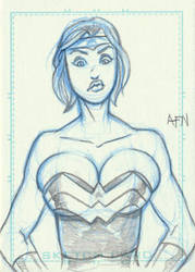 Power Girl as Wonder Woman by Nortedesigns