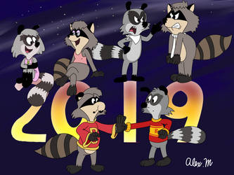The Raccoons 2019 by comedyestudios