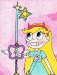 Star Butterfly wielding the Radiant Star (Final) by Crash5020