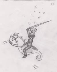 Seahorse Knight by AdrianaHurc