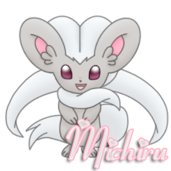 Michiru the female Cinccino by YunaSama