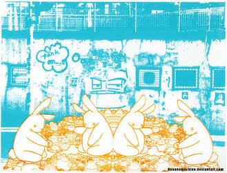 bunny picknick by BananaMachine