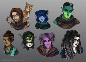Critical Role 2 Portraits by riku-gurl