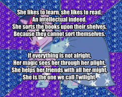 My Little Poetry -Twilight Sparkle- by snakeman1992