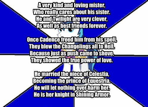 knight and shining armor poem