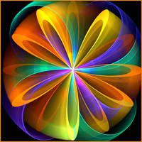 Rotationel flower by gitte