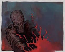 zombie head crush by WacomZombie
