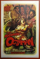 Octaman 4 Colour Silkscreen by WacomZombie