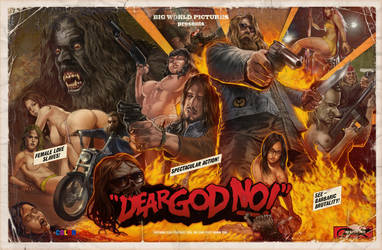 Dear God NO!  Poster Version by WacomZombie
