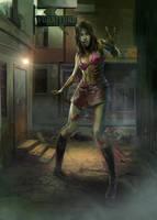 Ultrapro Zombie girl Sleeve artwork by WacomZombie