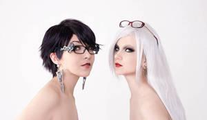 Bayonetta and Jeanne promo by arienai-ten