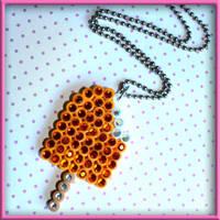 Rhinestone Popsicle Necklace by wickedland