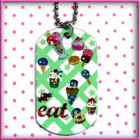 Anime Sweets Dog Tag Necklace by wickedland
