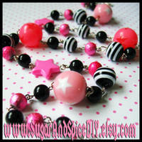 Pink Star CANDY Chain Necklace by wickedland